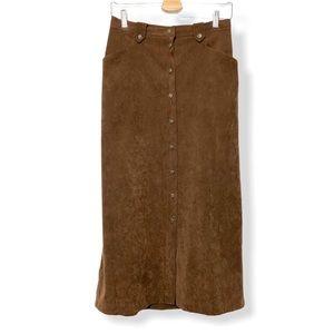 3/$99 🍯 Alfred Dunner Ladies Vintage Suede Skirt
